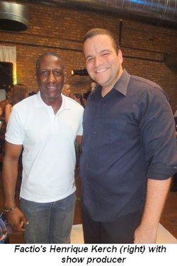 Blog 1 - Factio's Henrique Kerch with show producer