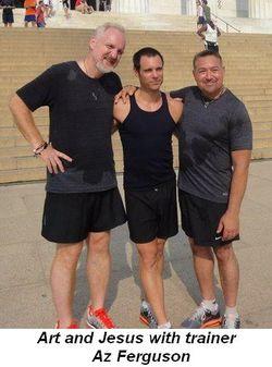 Blog 5 - Art and Jesus pose with trainer Az Ferguson