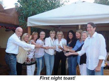 Blog 9 - First night toast!