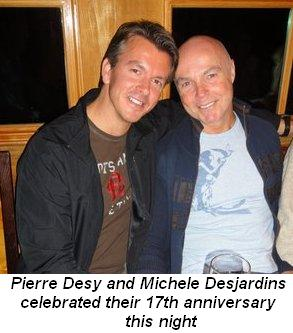 Blog 10 - Pierre Desy and Michel Desjardins celebrated their 17th anniversary this night