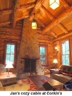 Blog 14 - Jan's cozy cabin at Corkin's