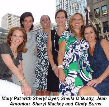 Blog 2 - Mary Pat with Sheryl Dyer, Sheila O'Grady, Jean Antoniou, Sharyl Mackey and Cindy Burns
