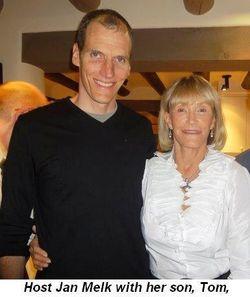 Blog 1 - Host Jan Melk with her son, Tom