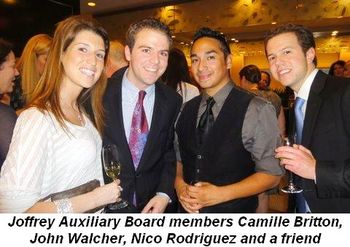 Blog 3 - Joffrey Auxiliary Board members Camille Britton, John Walcher, Nico Rodriguez and friend