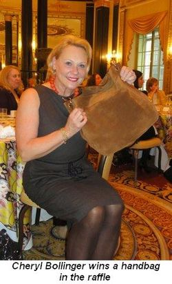Blog 7 - Cheryl Bollinger wins a handbag in the raffle