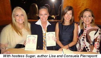 Blog 1 - With hostess Sugar, author Lisa and Consuela Pierrepont