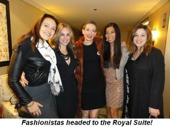 Blog 5 - Fashionistas headed to the Royal Suite