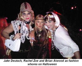 Blog 2 - Jake Deutsch, Rachel Zoe and Brian Atwood at Halloween