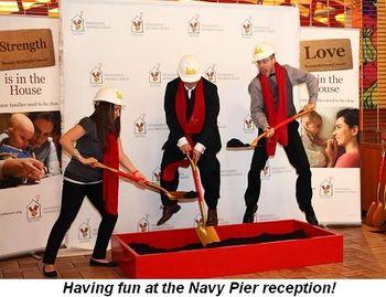 Blog - Having fun at the Navy Pier reception