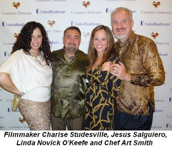 Blog 1 - Filmmaker Charise Studesville, Jesus Salguiero, Linda Novick O'Keefe and Chef Art Smith