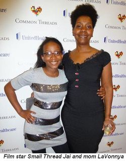 Blog 3 - Film's star Small Thread Jai and her mom LaVonnya
