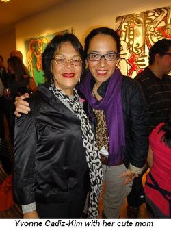 Blog 4 - Yvonne Cadiz-Kim with her cute mom