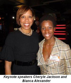 Blog 1 - Keynote speakers Cheryle Jackson and Bianca Alexander