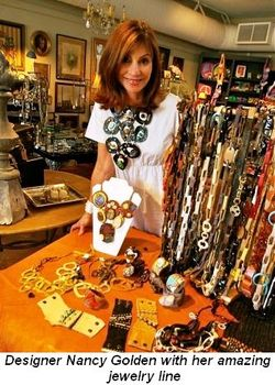 Blog 1 - Designer Nancy Golden with her amazing jewelry line