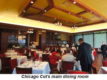 Blog 7 - Chicago Cut's main dining room
