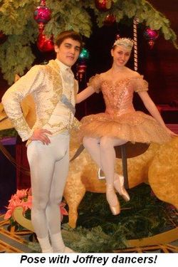 Blog 2 - Pose for pics with Joffrey dancers!