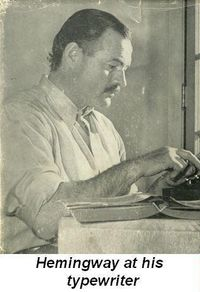Blog 1 - Hemingway at his typewriter