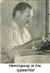 Blog 1 - Hemingway at his typewriter