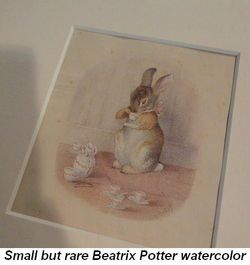 Gallery - Small but rare Beatrix Potter watercolor drawing