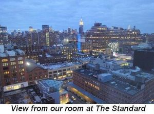 Blog 14 - View from our room at The Standard in the Meat Packing District