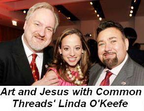 Blog 3 - Art and jesus Common Threads co-founders Chef Art Smith and Jesus Salguiero with Executive Director Linda Novick O'Keefe