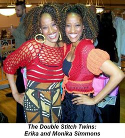 Blog 2 - The Double Stitch twins, Erika and Monika Simmons