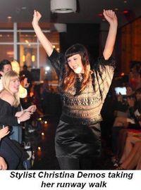 Blog 2 - Stylist Christina Demos taking her runway walk