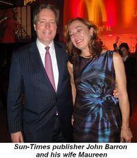 Blog 11 - Sun-Times publisher John Barron and his wife Maureen