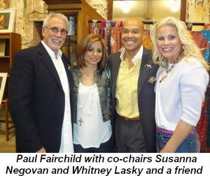Blog 1 - Paul Fairchild with co-chairs Susanna Negovan and Whitney Lasky and a friend