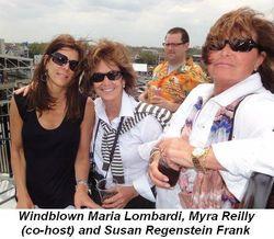 Blog 2 - Windblown Maria Lombardi, Myra Reilly (co-host) and Susan Regenstein Frank