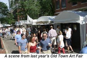 Blog 1 - Old Town Art Fair last year