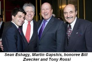 Blog 4 - Sean Eshagy, Martin Gapshis, Honoree Bill Zwecker and Tony Rossi