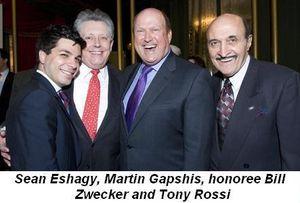 Blog 4 - Sean Eshagy, Martin Gapshis, Honoree Bill Zwecker and Tony Rossi