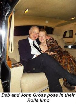 Blog 7 - Deb and John Gross pose in their Rolls limo