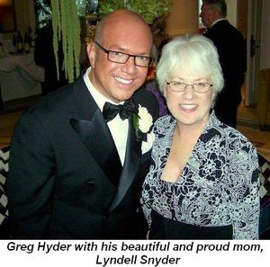 Blog 1 - Greg Hyder with his beautiful and proud mom, Lyndell Snyder