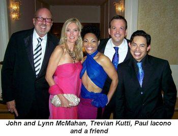 Blog 12 - John and Lynn McMahan, Trevian Kutti, Paul Iacono and friend