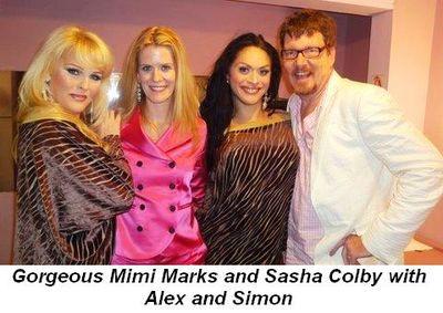 Blog 8 - Gorgeous Mimi Marks and Sasha Colby with Alex and Simon