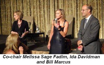 Blog 4 - Co-Chair Melissa Sage Fadim, Ida Davidman and Bill Marcus