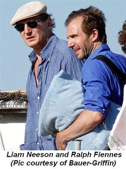 Blog 4 - Liam Neeson and Ralph Fiennes pic courtesy of Bauer-Griffin