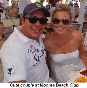 Blog 8d - Cute couple at Moorea Beach Club