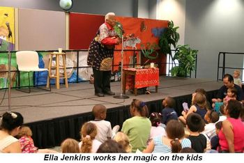 Blog 5 - Ella Jenkins works her magic on the kids