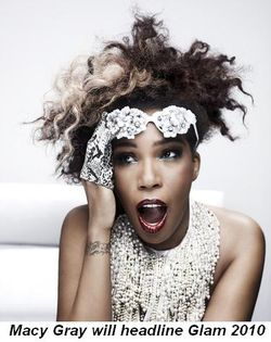 Blog 6 - Macy Gray will headline Glam 2010