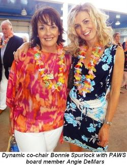 Blog 3 - Dynamic co-chair Bonnie Spurlock with PAWS Board Member Angie DeMars