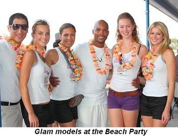 Blog 7 - Glam models at the Beach Party