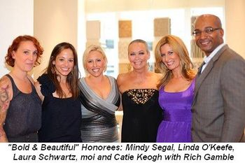 Blog 1 - Bold & Beautiful Women Honorees Mindy Segal, Linda O'Keefe, Laura Schwartz, moi, Catie Keogh and Rich Gamble