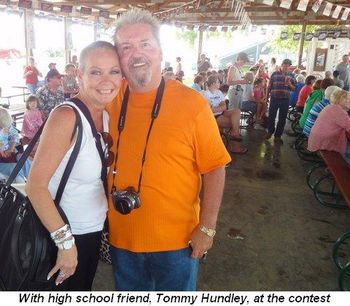 Blog 7 - With high school friend, Tommy Hundley, at contest