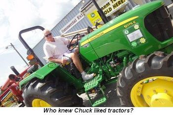 Blog 10 - Who knew Chuck liked tractors