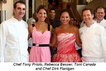 Blog 7 - Chef Tony Priolo, Rebecca Besser, Toni Canada and Chef Dirk Flanigan