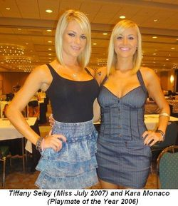 Blog 2 - Tiffany Selby (Miss July 2007) and Kara Monaco (Playmate of the Year 2006)