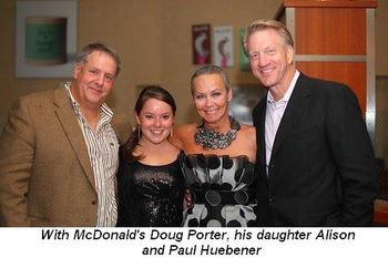 Blog 3 - With McDonald's Doug Porter and his daughter Alison and Paul Huebener